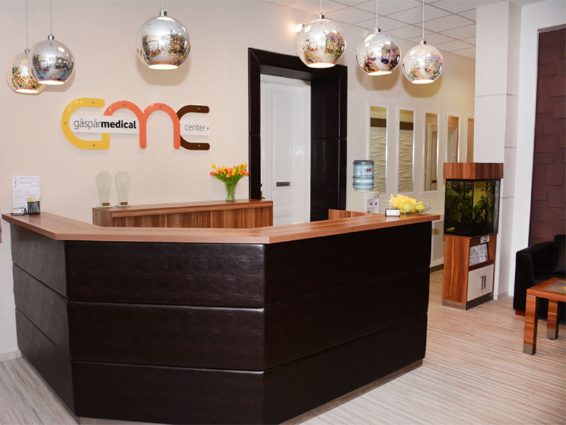 recepció Gáspár medical center gáspár dental fogászati centrum