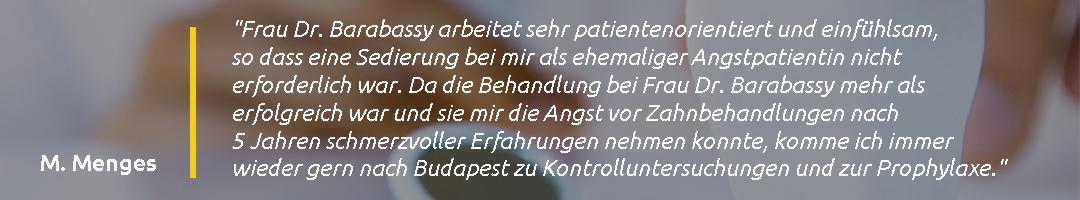 Gáspár Dental Dr. Barabássy Katalin páciens vélemény
