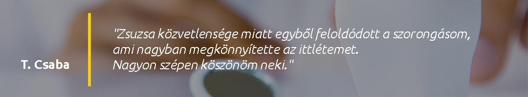 Gáspár Dental Pinkóczi-Fodor Zsuzsanna páciens vélemény