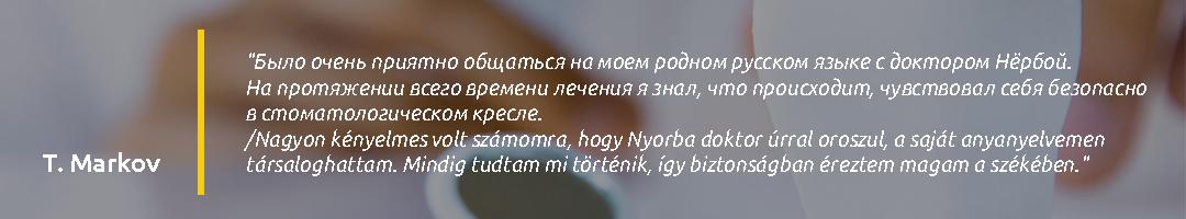Gáspár Dental Dr. Nyorba Péter páciens vélemény